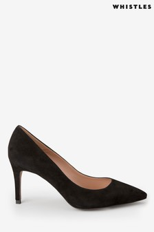 Whistles Black Carrie Court Shoes