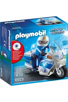 Playmobil® City Action Police Bike With LED Light