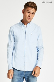 Jack Wills Sky Blue Wadsworth Oxford Plain Shirt