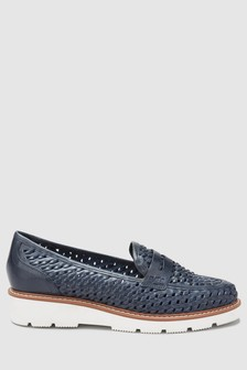 Leather Weave EVA Loafers