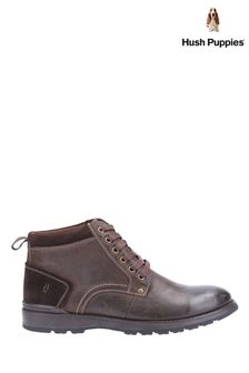 Hush Puppies Brown Dean Lace-Up Boots
