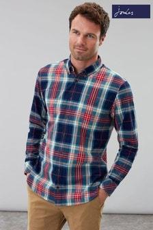 Joules Blue Hewitt Long Sleeve Poplin Shirt