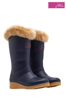 Joules Navy Tall Padded Welly