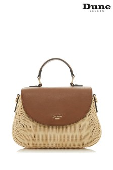 Dune Accessories Tan Medium Basket Bag