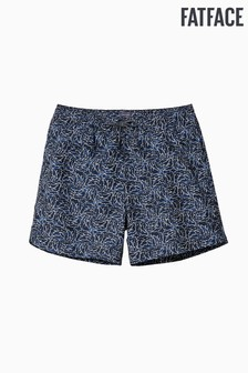 FatFace Blue Daymer Shark Print Swimmers