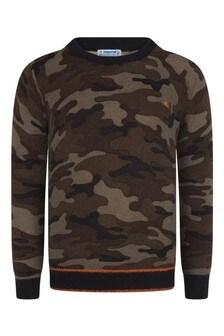 Boys Navy Camouflage Jumper