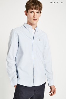Jack Wills Sky Blue Wadsworth Oxford Stripe Shirt