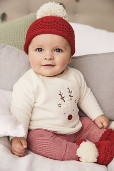 2 Piece Reindeer Cosy Top And Leggings Set (0mths-2yrs)