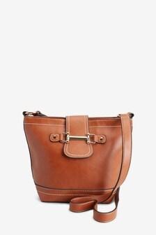 Hardware Detail Bucket Cross-Body Bag