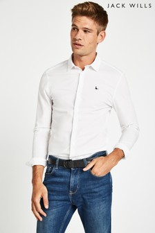 Jack Wills White Hinton Skinny Fit Shirt