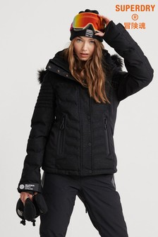 Superdry Black Lux Snow Jacket