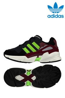 adidas Originals Black/Green Yung 96 Youth Trainers