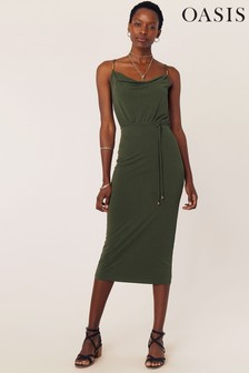 Oasis Green Cowl Neck Cami Dress