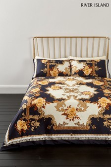 River Island Floral Baroque Print Duvet Cover and Pillowcase Set