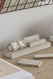 Cement Perpetual Calendar