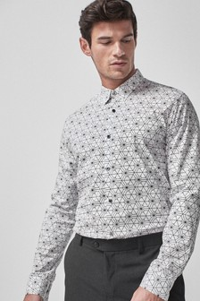 Regular Fit Geo Print Shirt