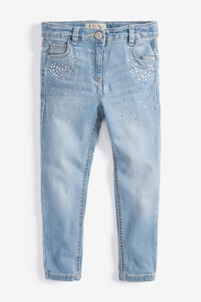 Jeans skinny effetto cristallo (3-16 anni)