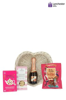 Fizz And Treats Wicker Tray by Lanchester Gifts