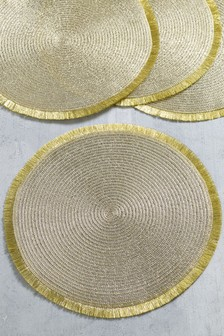Set of 4 Tinsel Placemats