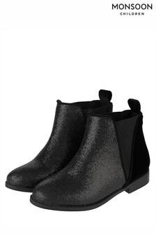 Monsoon Chelsea Velvet Mixed Boot