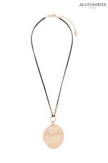 Accessorize Statement Disc Pendant Necklace