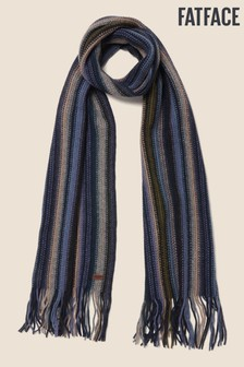 FatFace Blue Multi Stripe Scarf