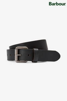 Barbour® Matt Black Leather Belt