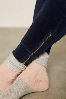Mint Velvet Nude Blocked Sock