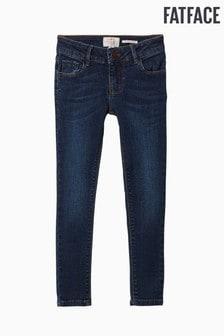 جينز ضيق باهت داكن أزرق من FatFace