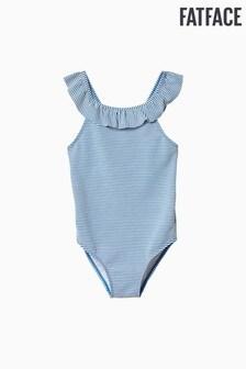 בגד ים פסים כחול במרקם כיווצים של FatFace