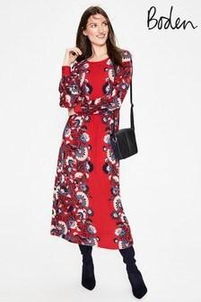 Boden Red Zoe Jersey Midi Dress