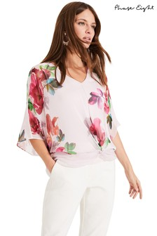 Phase Eight Pink Adelle Floral Silk Blouse
