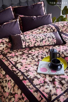Ted Baker Pink Smudge Floral Cushion