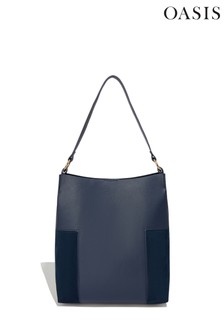 Oasis Blue Lily Structured Hobo Bag