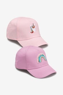 2 Pack Unicorn Rainbow Caps (Younger)