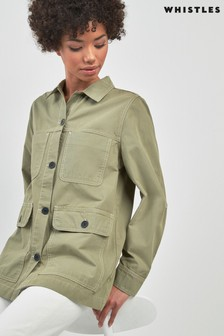 Whistles Khaki Chore Casual Jacket
