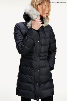 Tommy Hilfiger Black Tyra Down Coat