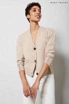 Mint Velvet Beige Buttoned Cardigan