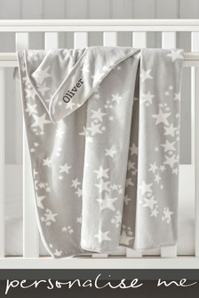 Personalised Fleeced Stars Blanket