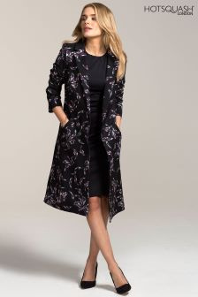 HotSquash Embroidered Flower Charlotte Coat