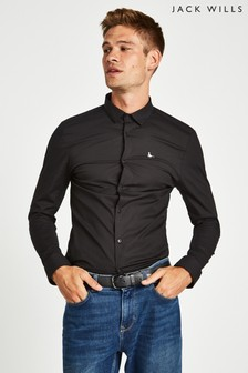 Jack Wills Black Hinton Skinny Fit Shirt