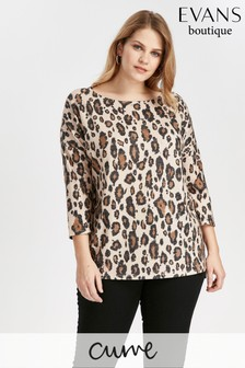 Evans Brown Soft Touch Animal Top