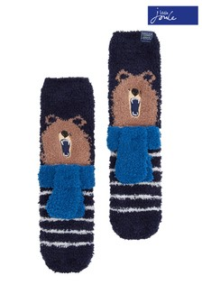 Joules Bear Novelty Fluffy Socks