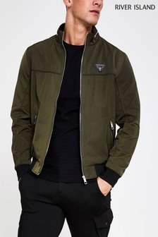 River Island Khaki Dyer Indoor Jacket