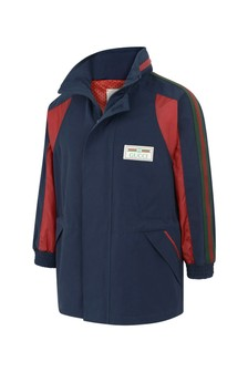 Boys Navy Lightweight Trim Jacket