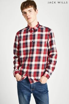 Jack Wills Navy/Red Dundry Flannel Shirt