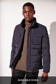 Pikowana kurtka z szerokim kołnierzem