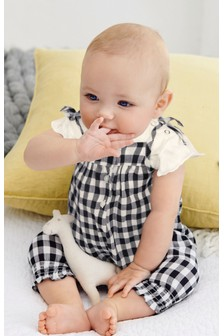 Gingham Dungaree And Bodysuit Set (0mths-2yrs)