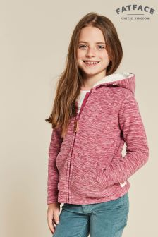 FatFace Red Millie Microfleece Hoody