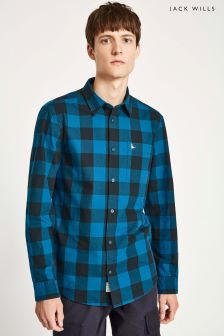 Jack Wills Navy/Blue Salcombe Lightweight Flannel Buffalo Shirt